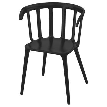 Крісло з підлокітниками IKEA IKEA PS 2012 чорне (702.068.04)