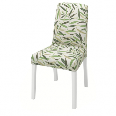 Стілець IKEA BERGMUND білий / Fagelfors різнокольоровий (993.880.97)