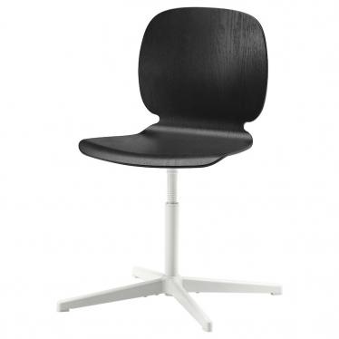 Поворотний стілець IKEA SVENBERTIL чорний / Balsberget білий (793.030.99)