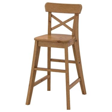Дитячий стілець IKEA INGOLF морилка патина (603.538.38)