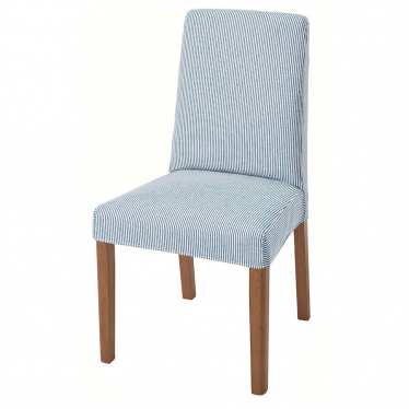 Стілець IKEA BERGMUND дуб / роммеле темно-синій / білий (093.899.87)