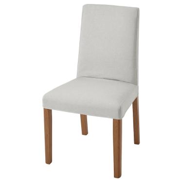 Стілець IKEA BERGMUND дуб / Orrsta світло-сірий (993.877.38)