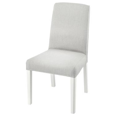 Стілець IKEA BERGMUND білий / Orrsta світло-сірий (093.877.33)