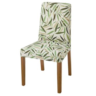 Стілець IKEA BERGMUND дуб / Fagelfors різнокольоровий (493.880.85)