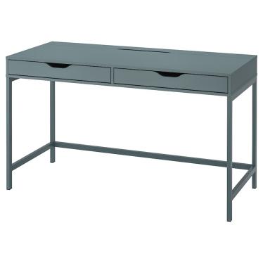 Письмовий стіл IKEA ALEX 132 x 58 см сіро-бірюзовий (804.838.05)