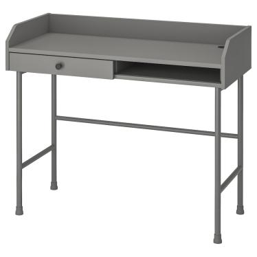 Письмовий стіл IKEA HAUGA 100х45 см сірий (604.776.74)